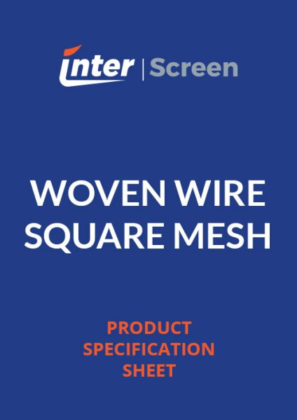 Woven Wire Square Mesh Specification Sheet
